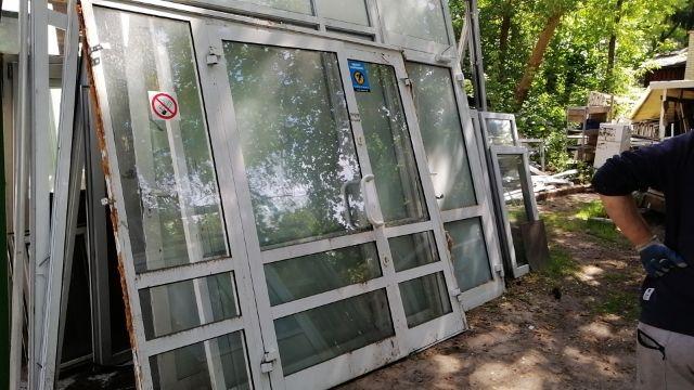 Drzwi Aluminiowe wejściowe 226 x 219 cm 2260 x 2190 mm Wyprzedaż !
