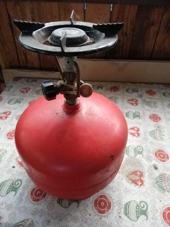 Turystyczna butla gazowa z palnikiem