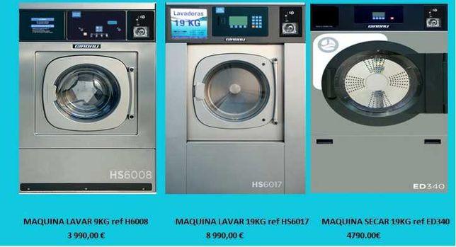 Máquinas para Lavandaria SELF-SERVICE semi-novas, c/ moedeiro incluido