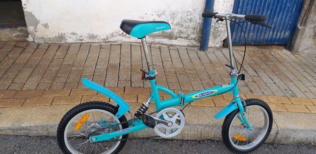 Bicicleta dobrável com suspensão roda 16