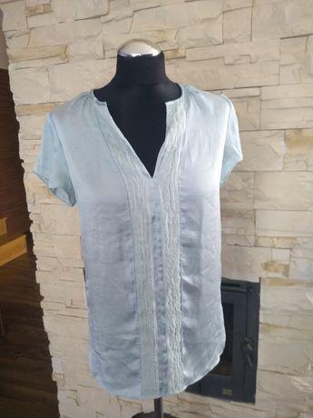 Satynowa bluzka turkusowa