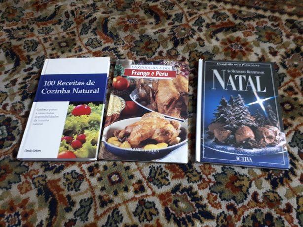 3 livros novos de culinária capa dura