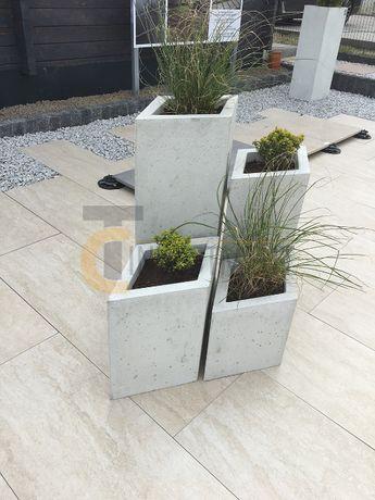 Donice betonowe ogrodowe SLABB Donica betonowa ogrodowa Diamante