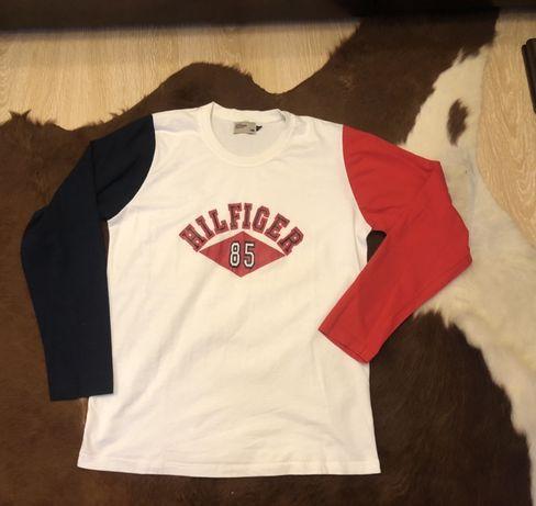 Tommy Hilfiger Лонг слив для подростка M футболка с длинным рукавом
