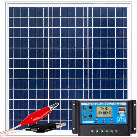 Panele fotowoltaiczne bateria słoneczna 40W 12V regulator (ZES205)