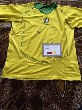 Koszulka Pele oryginalny autograf Certyfikat