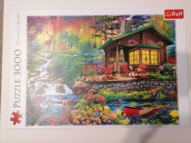 Puzzle Trefl 3000 elementów Chatka w lesie