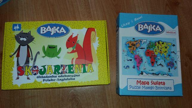 Bajka Uczy i bawi Puzzle i skojarzenia wiek 5 lat