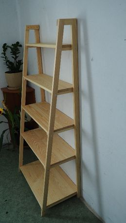 Regał drewniany drabinka 170x74