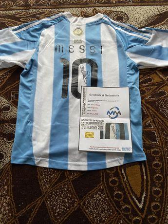 Koszulka Lionel Messi Argentyna oryginalny autograf Certyfikat