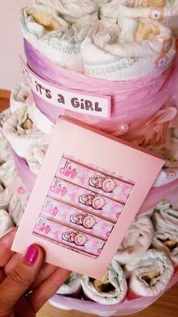 Bransoletki na baby shower. It's a girl. Dziewczynka