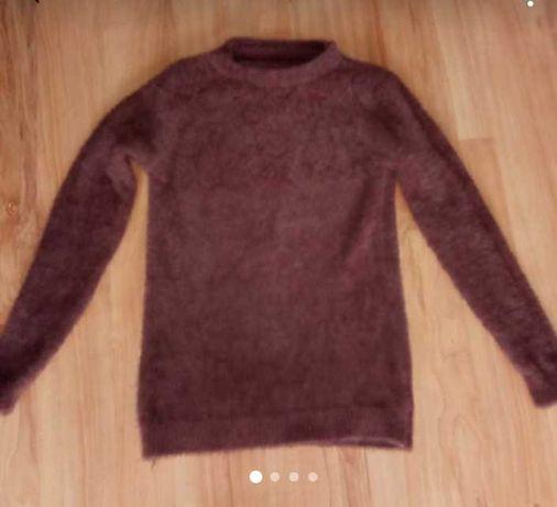 Sweter włochaty damski