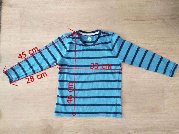 używana koszulka dziecięca cool club w paski 116 rozmiar niebieska