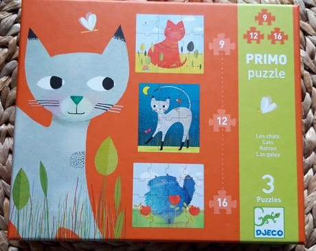 Djeco 3x puzzels 9, 12, 16