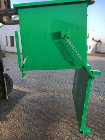 Skrzyniowy kontener 750 L z klapowym dnem