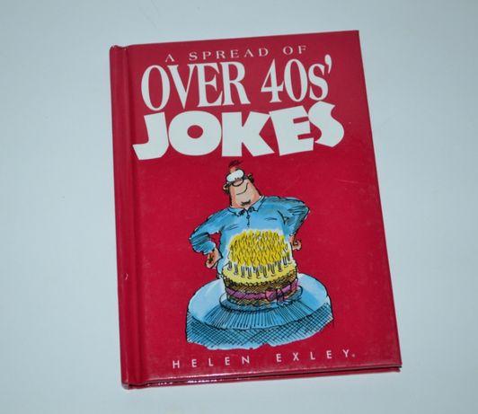 книга на английском с иллюстрациями a spread over 40s' jokes Helen Exl