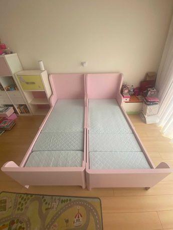 Cama de criança extensivel com colchão de 1x30 a 2,00 (Busunge Ikea)