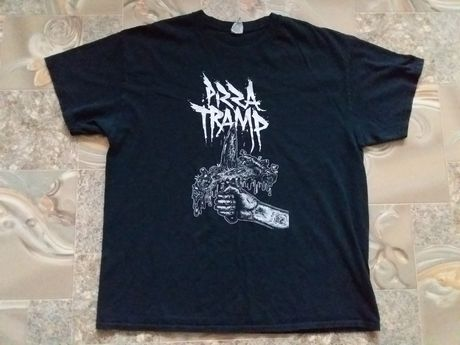 Оригинальная футболка мерч punk hardcore группы Pizza Tramp size XL