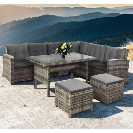 Комплект мебели из ротанга диван + стол + 2 пуфика! Германия!