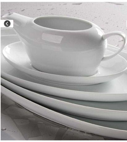 SPAL 303 Serviço de jantar com 70 pçs NOVO Porcelana fina branca