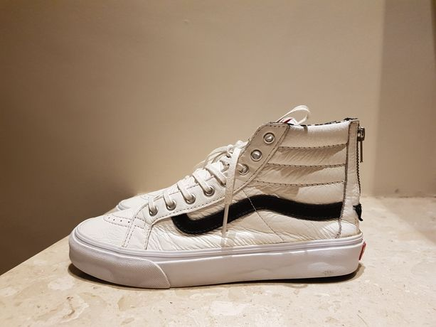 buty vans old skool wysokie r.38 białe