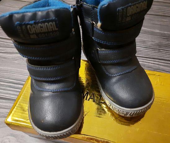Зимние ботинки на овчине 26 р-р