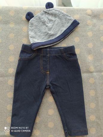 NEXT 3-6 м джинси штанишки брюки стрейч шапочка