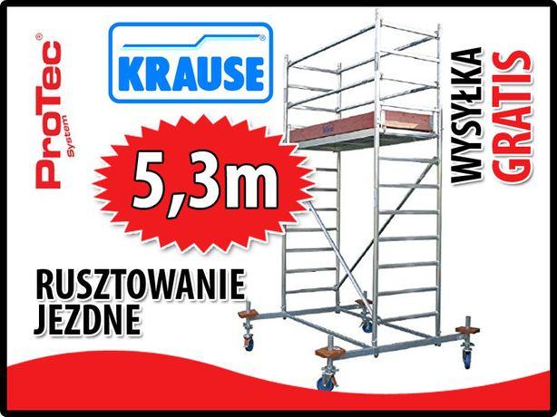 Rusztowanie aluminiowe KRAUSE. 0,7x2m wys.rob od 4,4m - 14,4m
