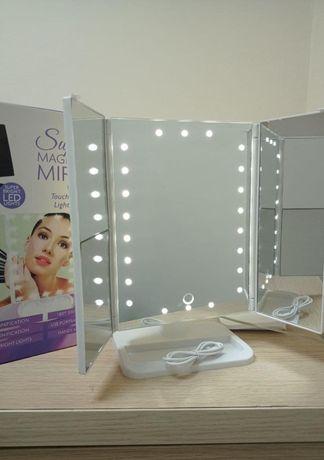 Зеркало косметическое светится на 22 светодиода