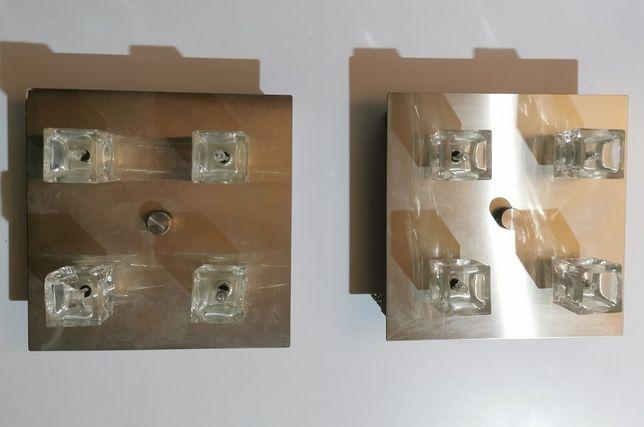 2 szt. Kwadratowe lampy kinkiet, żyrandol, oświetlenie, 4 żarówki
