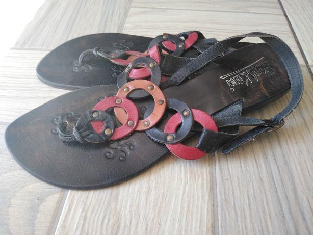 Sandały skórzane 41