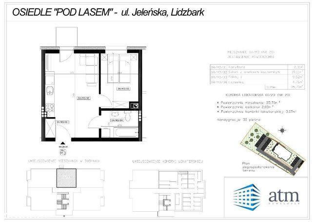 Mieszkanie 35,76 m2 w stanie deweloperskim