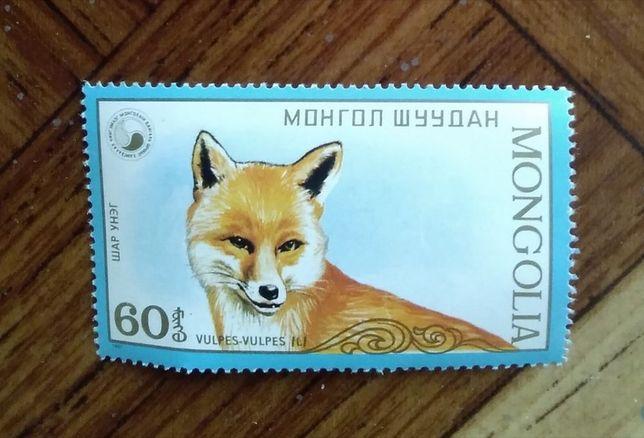 Марка почтовая Монголии