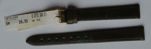 Zielony damski pasek do zegarka 12 mm. Nowy! Skórzany! Wysoka jakość!