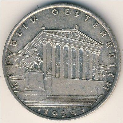 Австрия 1 шиллинг, 1924