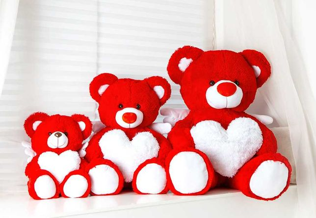 Плюшевый мишка, медведь с сердечком и крылышками.) Новый, в упаковке.
