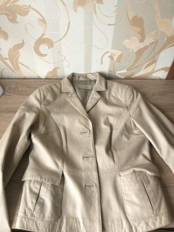 Пиджак -куртка кожаный