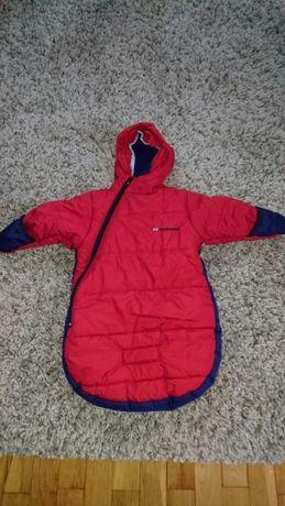 Śpiworek dla dziecka London by Fog stan bardzo dobry czerwony 0/6M