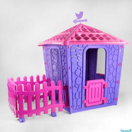 Игровой домик с оградой Pilsan Stone .Два цвета