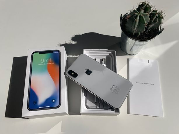 IPHONE X como NOVO silver 64GB