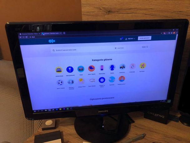 Monitor FullHD 1080p 1920 x 1080 Philips 227EL 21.5 cala