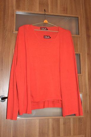 Duży rozmiar dwuczęściowa bluzka damska z dzianiny