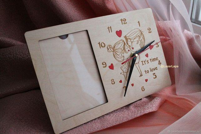 Часы настольные с фотографией