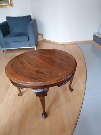 Stolik okrągły zdobiony - Antyk
