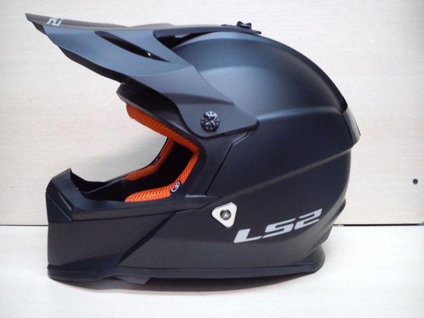 NOWY Kask motocyklowy LS2 Kask enduro, cross Czarny quad MX437