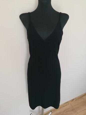 Sukienka czarna lato wycięte plecy Oasis