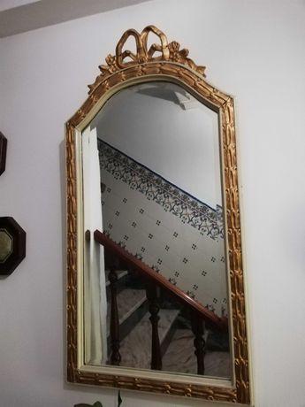 Espelho biselado e credencia Vintage