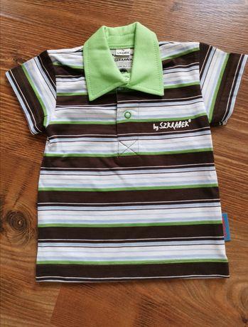 NOWA śliczna bluzka bluzeczka koszulka polo rozmiar 74
