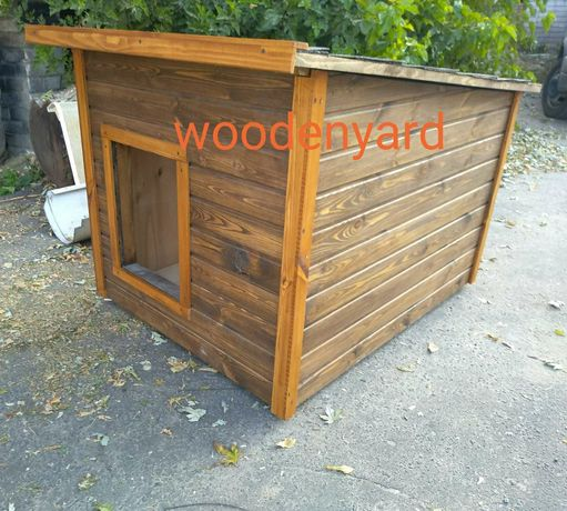 Утепленная будка из дерева