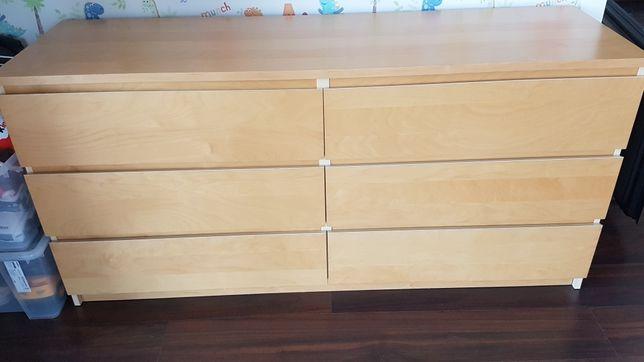 Komoda Ikea malm 160x78 6 szuflad